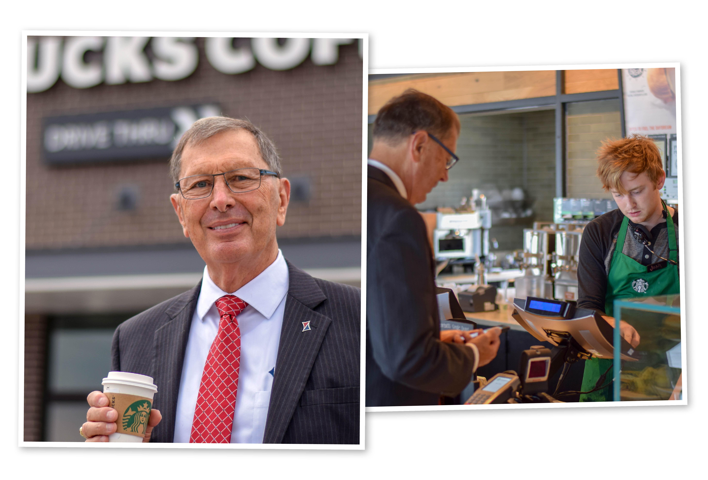 Erv at Starbucks